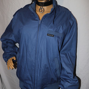 Members Only Vintage Blue Jacket M Retro Hipster